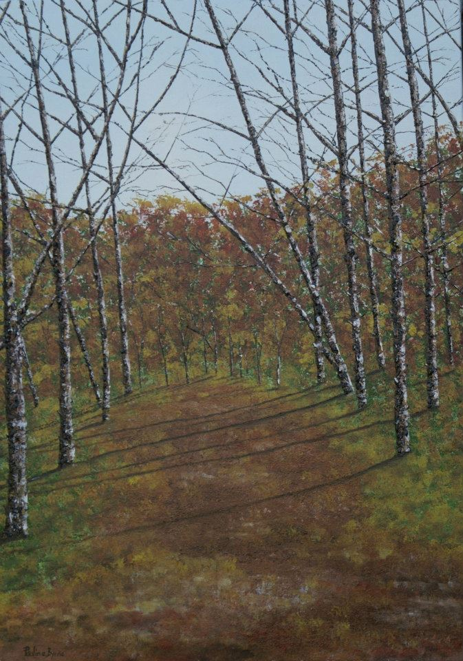 "Picture of oil painting ""Shadow of trees"""