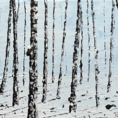 "Picture of oil painting ""Dust of snow"""